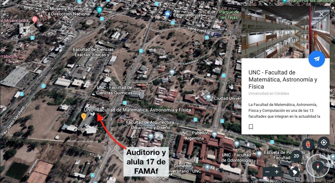 Foto mapa FAMAF
